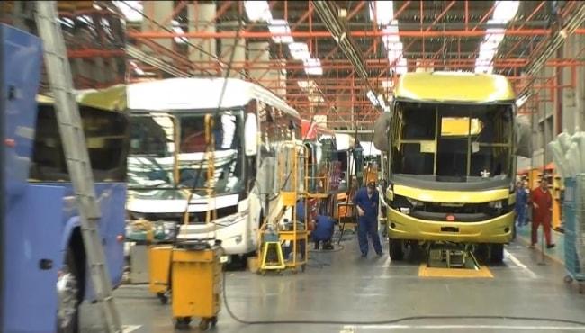 Produção de ônibus no Brasil amarga queda acumulada em nove meses